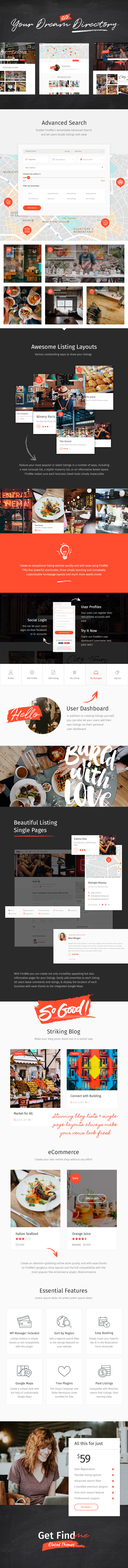 FindMe - An Urban and Vibrant Directory Theme