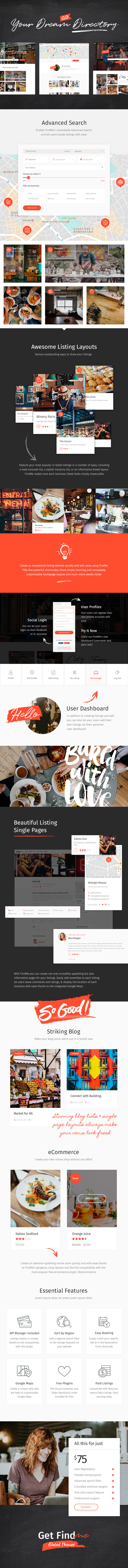 FindMe - Directory Listing Theme - 1